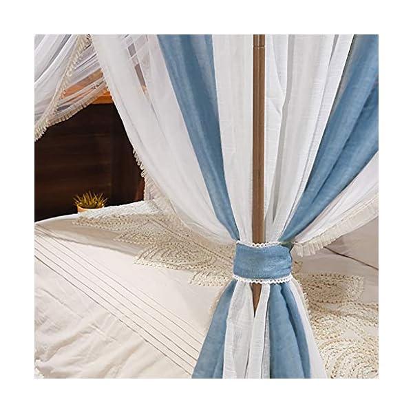 2 in 1 tessuto di tela staccabile zanzariera, 1.5m / 1.8m / 2m letto manto di crittografia delle famiglie Pavimento… 7 spesavip