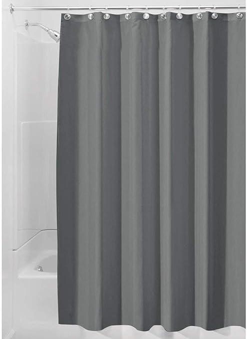 iDesign Cortinas de baño de tela, cortina impermeable de poliéster ...