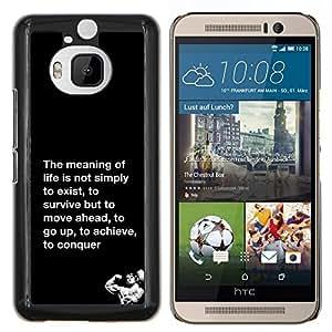 LECELL--Funda protectora / Cubierta / Piel For HTC One M9Plus M9+ M9 Plus -- significado de la conquista la vida lucha ejercicio --