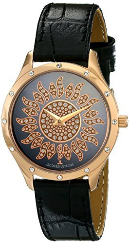 Jacques Lemans Women's 1-1803K Rome Analog Display Quartz Black Watch