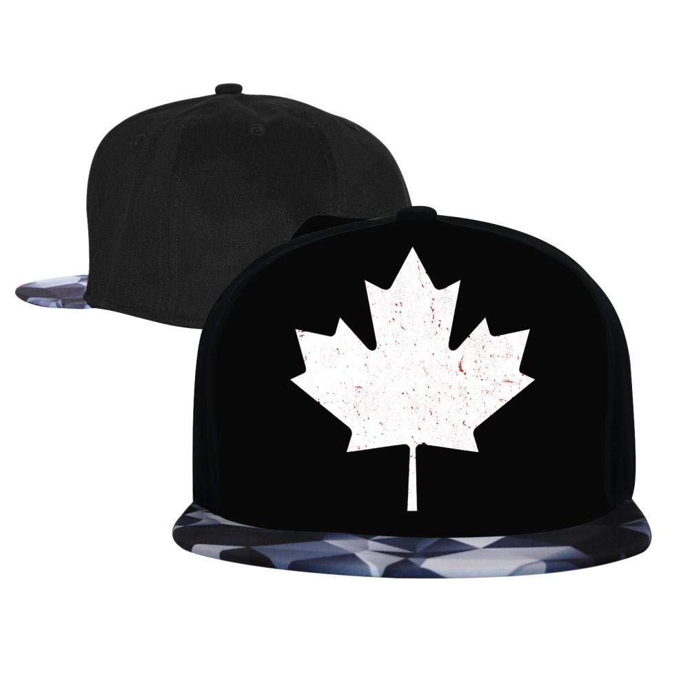 Canada Canadian Flag Maple Leaf Mens and Womens Trucker Hats Adjustable Hip Hop Flat-Mouthed Baseball Caps