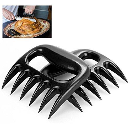 BINGONE (Set of 2) Meat Handler Bear Claw BBQ Forks Shredding Pulling Grill Tool