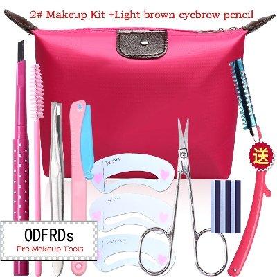 Kit Brown Black 2n (Makeup Kit Make Up Eyebrow Pencil Eye Liner Makeup Kit With Cosmetic Bag 2N)