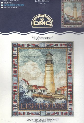 Lighthouse - Counted Cross Stitch Kit - DMC #K3336US ()