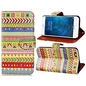 SOL Tribal Style Pattern Design PU leather Full Body Case with Stand and Card Slot for iPhone 6