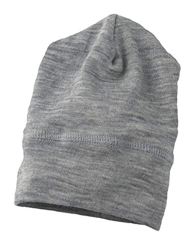 Engel 70% Organic Wool 30% Silk Baby Hat (74/80 (6-12 Months), Grey ()
