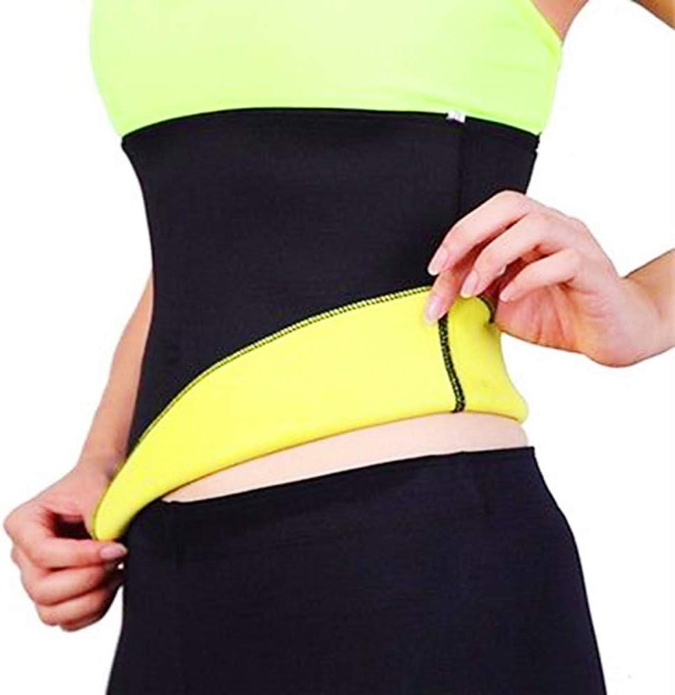 Hzb821zhup Ceinture de Transpiration de Sport Ceinture de Yoga Ceinture dentra/înement de la Taille Ceinture /élastique de Sueur pour Femme Sport Fitness Taille-Taille Slim Body Shaper
