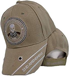 K's Novelties 2nd Amendment Original Homeland Security 1789 Skull Khaki Embroidered Cap Hat