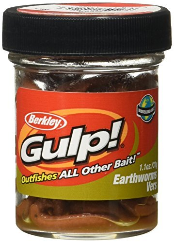Berkley Gulp Extruded Earthworms - Natural Brown, Twin Pack 4 Inch by Berkley -