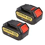 DEWALT DCB204-2 20V 4.0 Ah Max Premium XR Li-Ion Battery, 2-Pack