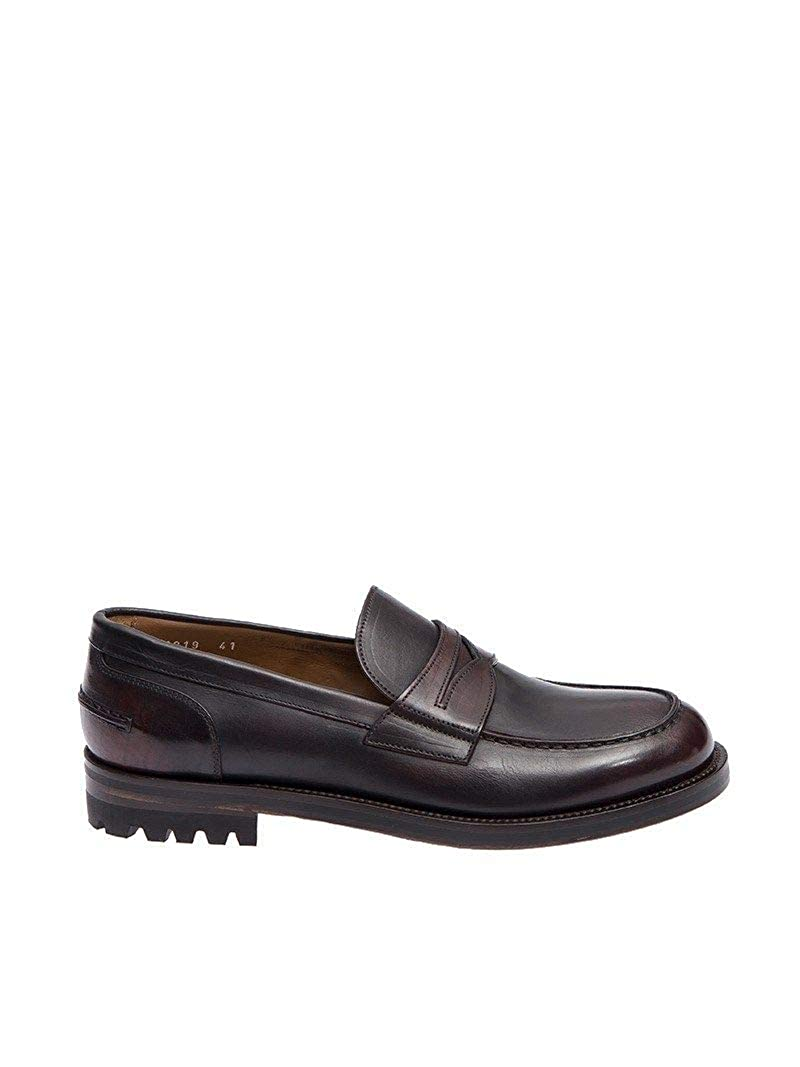 - DOUCAL'S Men's 13193UF7I Brown Leather Loafers
