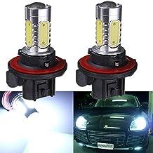KATUR 2x White H13 9008 COB Projector LED Bulb Car Auto Light Source Headlight Fog DRL Lamp