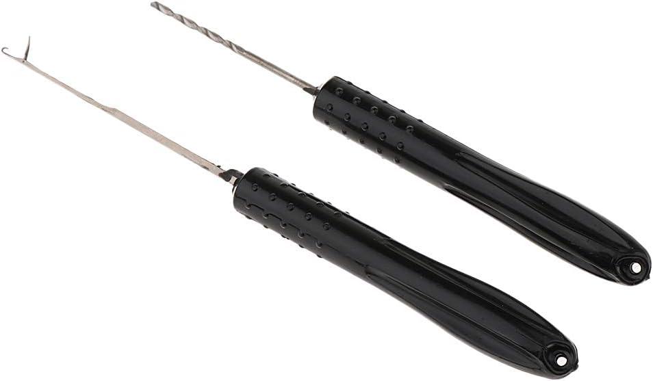 B Baosity 2X Boilienadel Angeln Fischen K/öder Tool Komplett Set Bohrer Nadeln