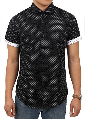 LC Mens Short Sleeve Button Down Shirt (Medium/ 155-80 - Ryan No Shirt Gosling With