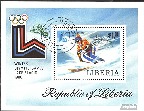 Liberia block95a (Complete.Issue.) 1980 Olympic. Winter Games, Lake Placid (Stamps for Collectors) Winter Sports