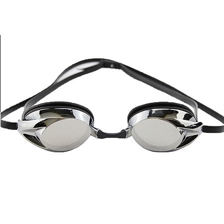 cf2426b6258 High Myopia Waterproof Swimming Goggles Conjoined Earplug Electroplating Big  Box Plating Mirror Goggles Anti Fog UV Protection Men Women