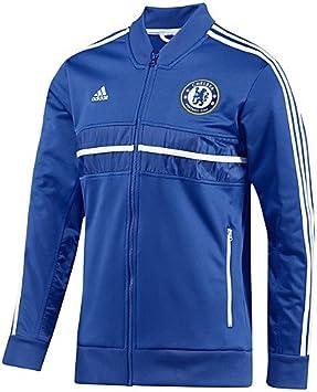 adidas Men's Chelsea Anthem Veste de survêtement Large Bleu