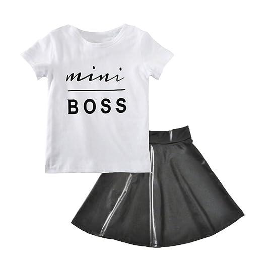 2 pcs/set moda niña ropa Set Creative Boss Letras impresora ...
