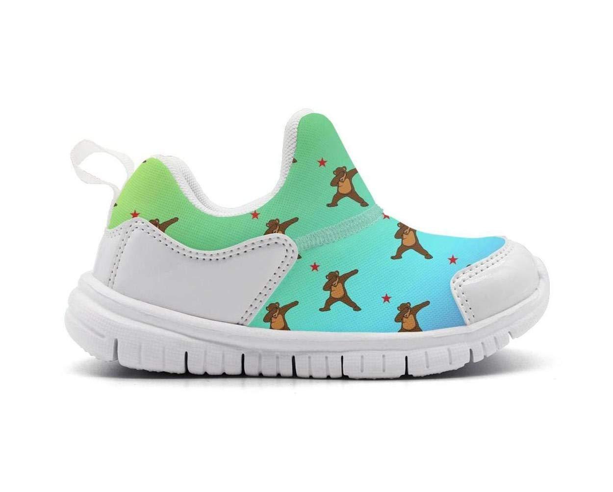 ONEYUAN Children Bear Golden State Kid Casual Lightweight Sport Shoes Sneakers Running Shoes