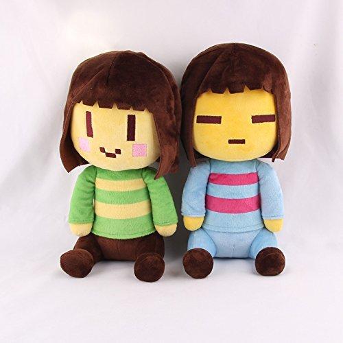 New Arrival Creative Colorful Cute Undertale Frisk   Chara Plush Stuffed Doll Toys 2 Pcs Set