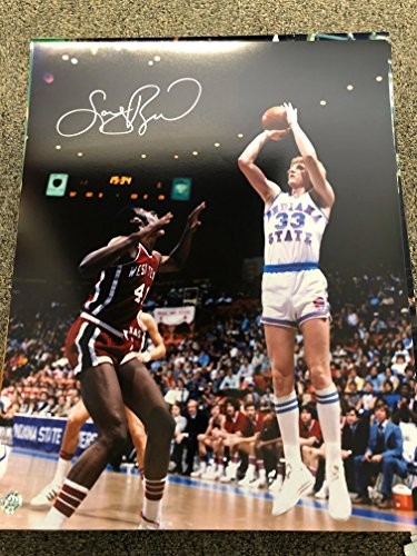 Larry Bird Autographed Celtics Indiana State 16x20 Photo Bird Hologram