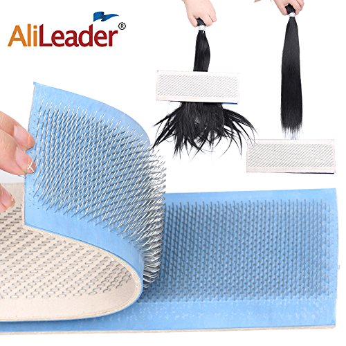 Alileader Hair Holder Drawing Mat For Bulk Hair Extension Professional Hackle Styling Tools Making Lace Wig Tools Drawing Card With Needles 24cm x 9cm