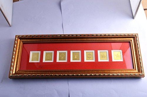 fengshuisale The Seven Royal Emblems Plaque Free Red String Bracelet T9055