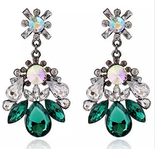 Adorable Woman Women's Austrian Crystal Art Deco Tear Drop Earrings from Adorable Woman