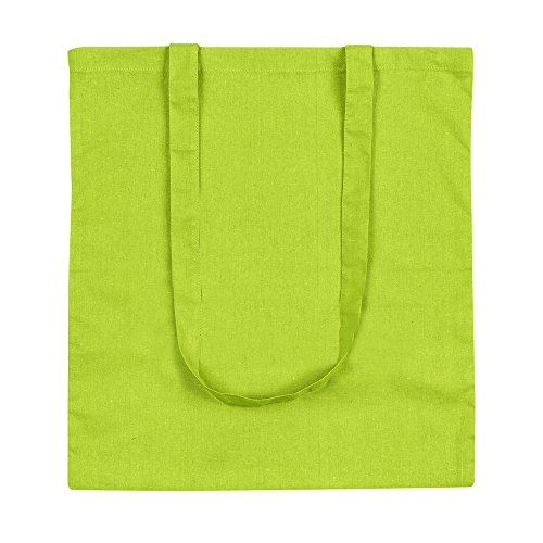 Lime Cotton eBuyGB Shoulder Shopping Green White Bag Tote 100 gqqF0AxwvX