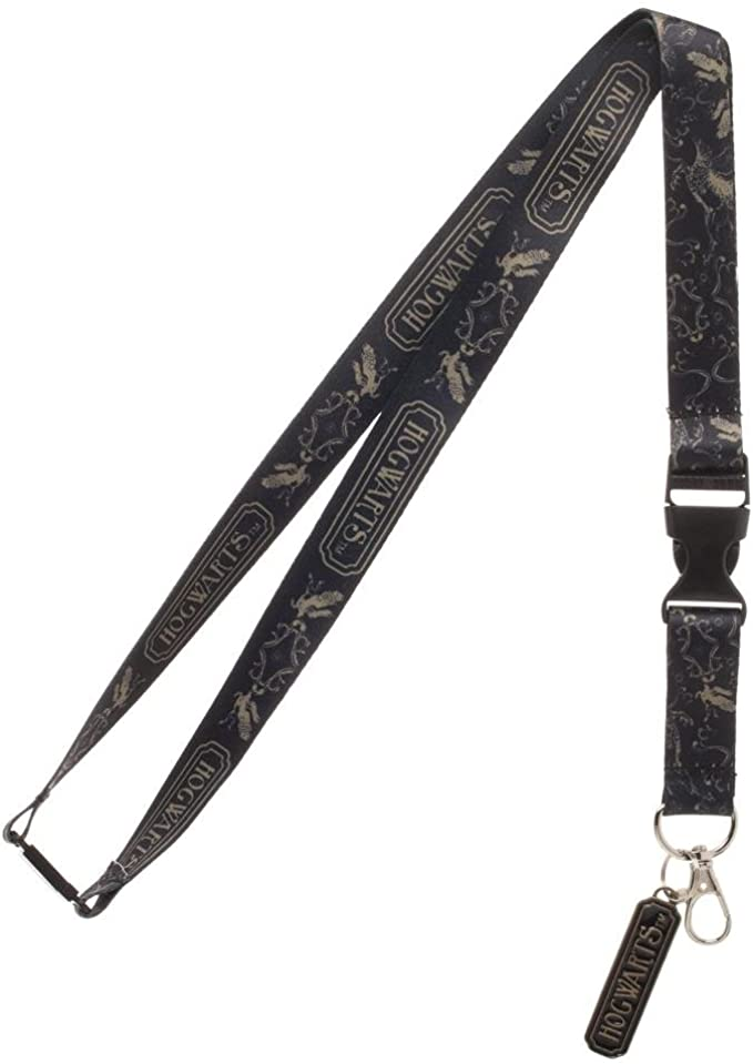 Harry Potter Mischief Managed Inspired Lanyard Made w Lightweight Ribbon Gray