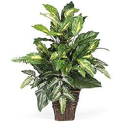 Nearly Natural Mixed Greens Silk Plant
