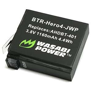 Batería de alimentación Wasabi para GoPro HERO4 y GoPro AHDBT-401