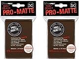 Ultra Pro 100 Brown Pro-Matte Deck Protectors Sleeves Standard MTG Colors
