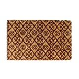 Imports Decor Printed Coir Doormat, Brown Floral, 18-Inch by 30-Inch