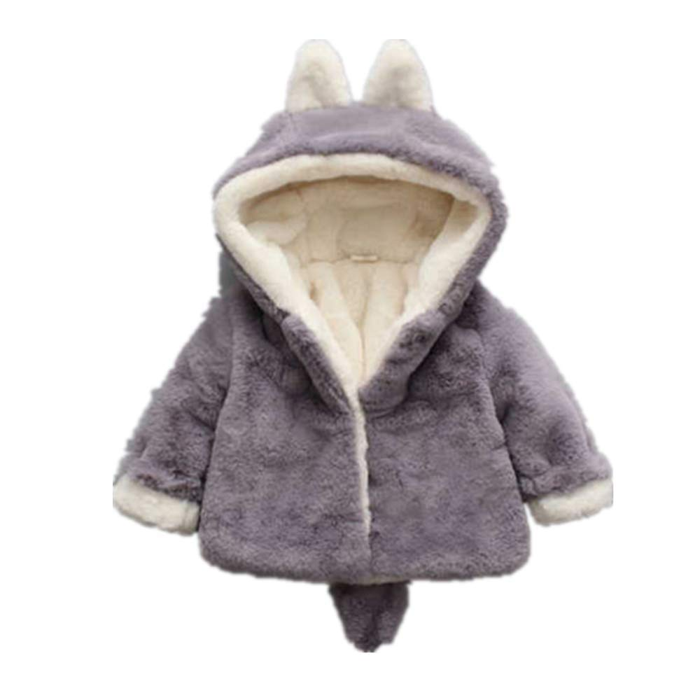 FHKUJ Female Baby Cotton Clothes 1-3 Years Old Winter Baby Children 2 Fur 4 Thick Girls Winter Cotton Jacket 0 Little Girl Cotton Coat