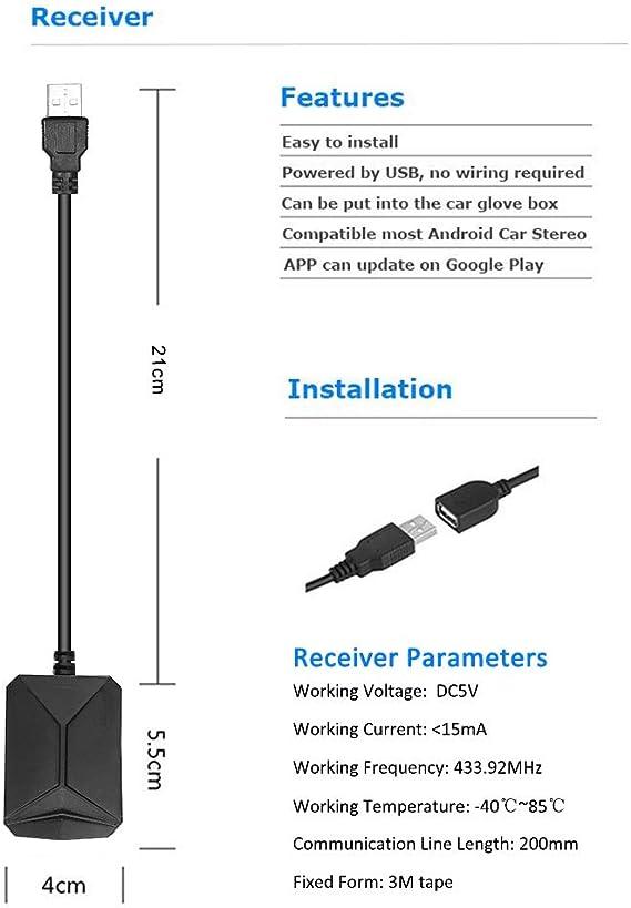 Goglor Auto TPMS Reifendruckkontrollsystem Und Temperatur-Sicherheitsalarmsystem Mit 4 Externen Sensoren Mini-LCD-Echtzeitanzeige Druck Drahtlosen Externen TPMS-Sensoren