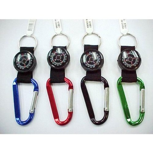 DDI 696475 Carabiner Key Chain with Compass Case Of 144 by DDI
