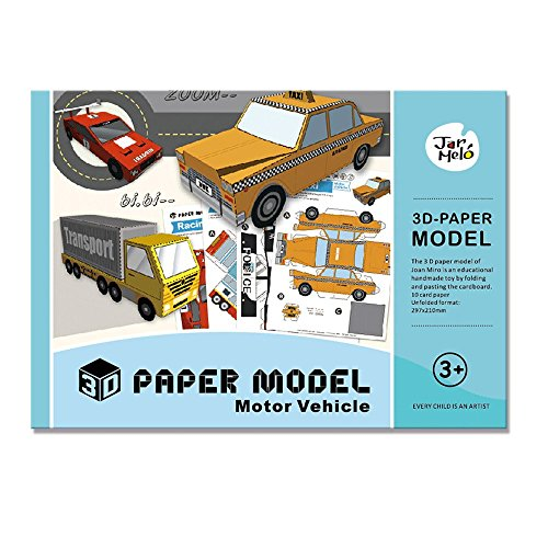 3D Paper Model Papercraft Motor Vehicle Assembly