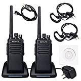 Retevis RT81 2 Way Radio 10W IP67 Waterproof UHF 400-470 MHz 32 Channel Walkie Talkies with Earpiece (2 Pack)and Programming Cable(1 Pack)