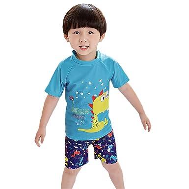 Changhants Boy Traje de baño de Dos Piezas 2-12 Y Niños Rash ...