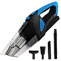 Cordless Vacuum, 12V 120W Portable Cordless Vacuum Cleaner, Wet & Dry Hand-held Car Vacuum, Dust Busters for Home or Car with 6KPa Suction, Pet Hair Eraser by Tureal