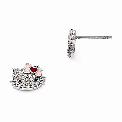 349f53654 Amazon.com: FB Jewels Solid Hello Kitty 925 Sterling Silver ...