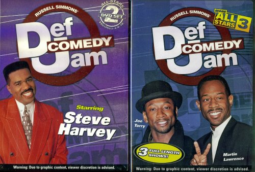 Def Comedy Jam Starring Steve Harvey Vol. 4,10 & Def Comedy Jam Starring Joe Torry, Martin Lawrence - More All Stars 3 - 2 HBO Black Comedy Specials DVDs