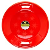 Lucky Bums Plastic Saucer Sled, 25-Inch Diameter, Red