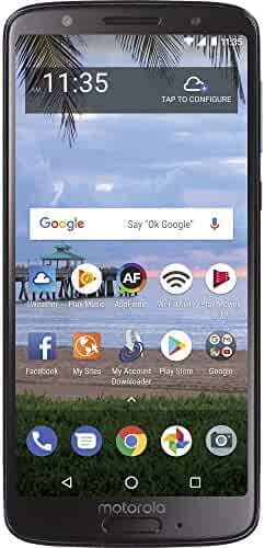 TracFone Motorola Moto G6 4G LTE Prepaid Smartphone with Amazon Exclusive $40 Airtime Bundle