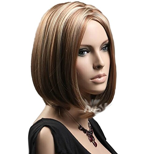hsg-fashion-bob-wigs-mix-brown-and-blonde-secondary-colors-center-part-women-new-short-straight-wigs