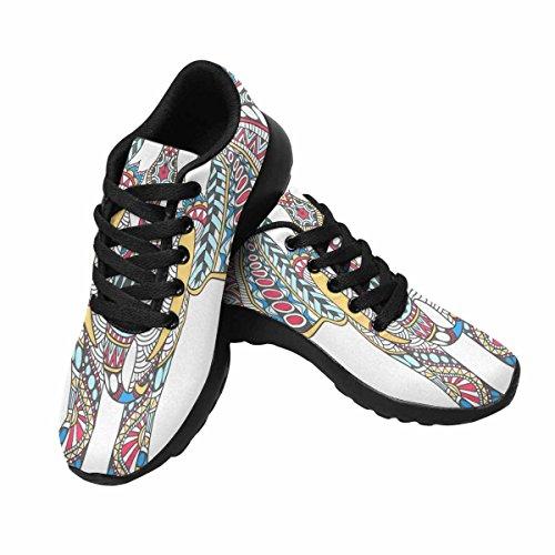Scarpa Da Jogging Leggera Da Donna Running Jogging Leggera Easy Walking Casual Comfort Running Scarpe Da Corsa Tattoo Color Con Elefanti Decorati Multi 1