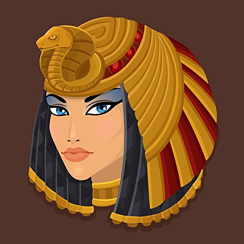 Pitaara Box PB Icon Portrait Cleopatra Peel & Stick Vinyl Wall Sticker 28 x 28inch (Unframed Icon)