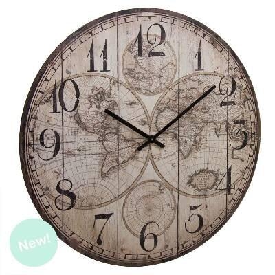 Reloj Pared 60 Cm Mapa