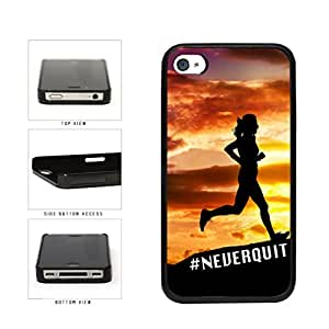 Hashtag Never Quit Plastic Phone Case Back Cover Apple iPhone 5 5s includes diy case Cloth and Warranty Label